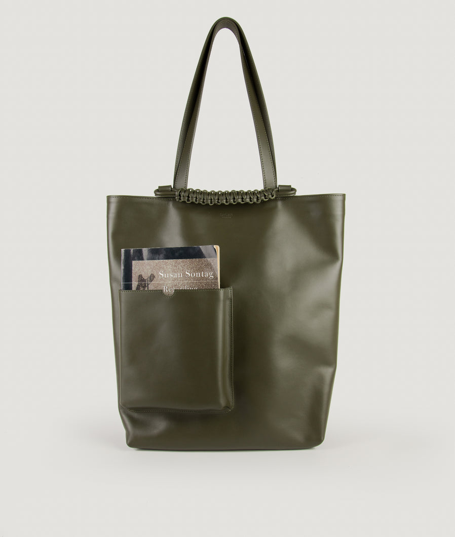 Pazar Book Tote Olive Green
