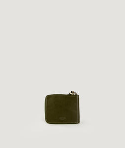WALLET SQUARE olive green with HORN PULLER