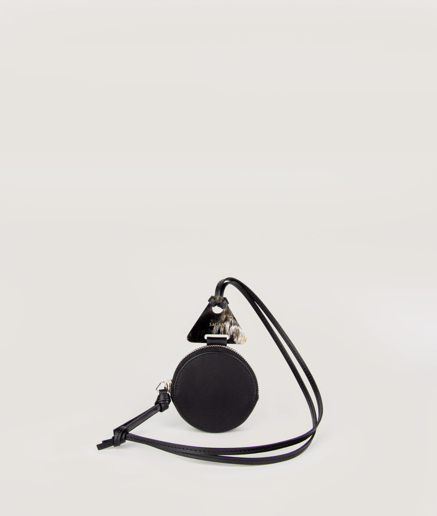 Coin Necklace wallet round black