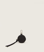 Load image into Gallery viewer, SAGAN Vienna - round coin holder, black, attachable on bags, made from vegetable tanned spanish goat leather.