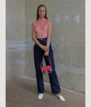 Load image into Gallery viewer, Crossbody S Fucsia with Mosaic horn