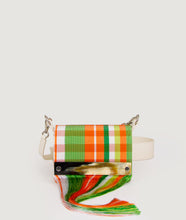 Load image into Gallery viewer, Collaboration, Kenneth Ize, Sagan Vienna, orange - white handbag, handwoven, horn detail, craftmanship