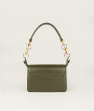 Load image into Gallery viewer, Crossbody S olive green with mosaic horn