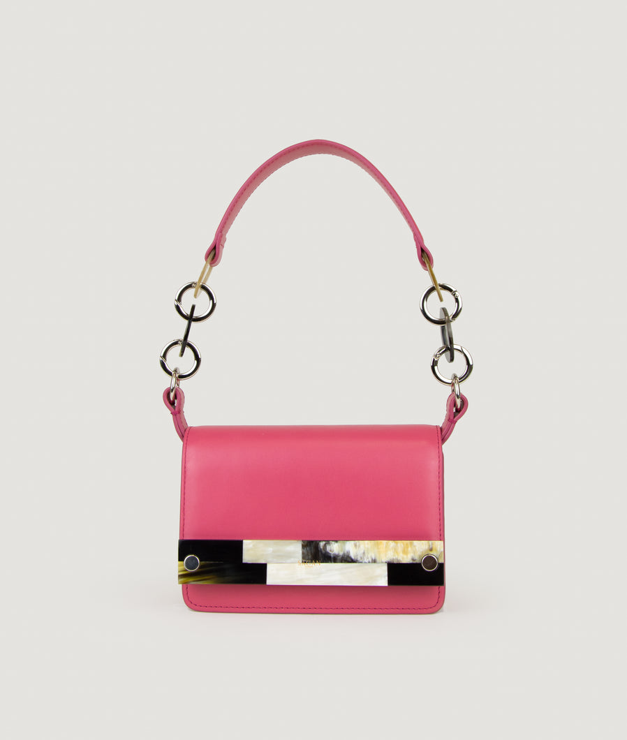 Crossbody S Fucsia with Mosaic horn