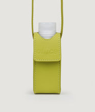 Load image into Gallery viewer, SAGAN Vienna x OFFICE with KOEKKOEK - small hand sanitizer bag in yellow. With every purchase you are supporting Kayayei girls and women who are affected by the COVID-19 outbreak.