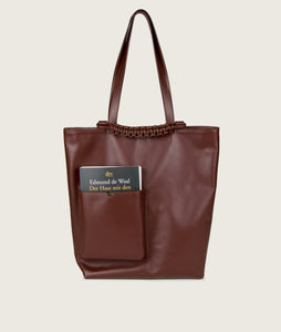Pazar Book Tote Brown