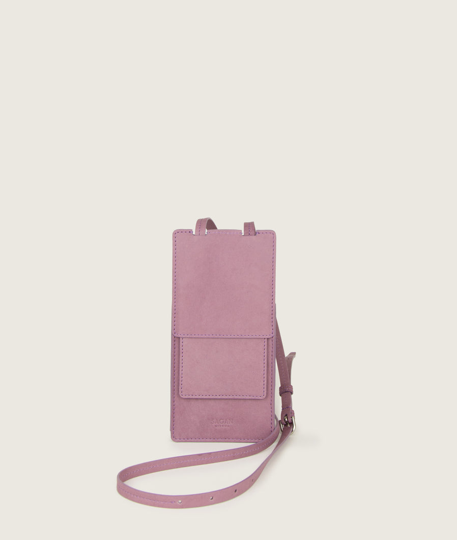 Modular Phone/Card case dry lavender