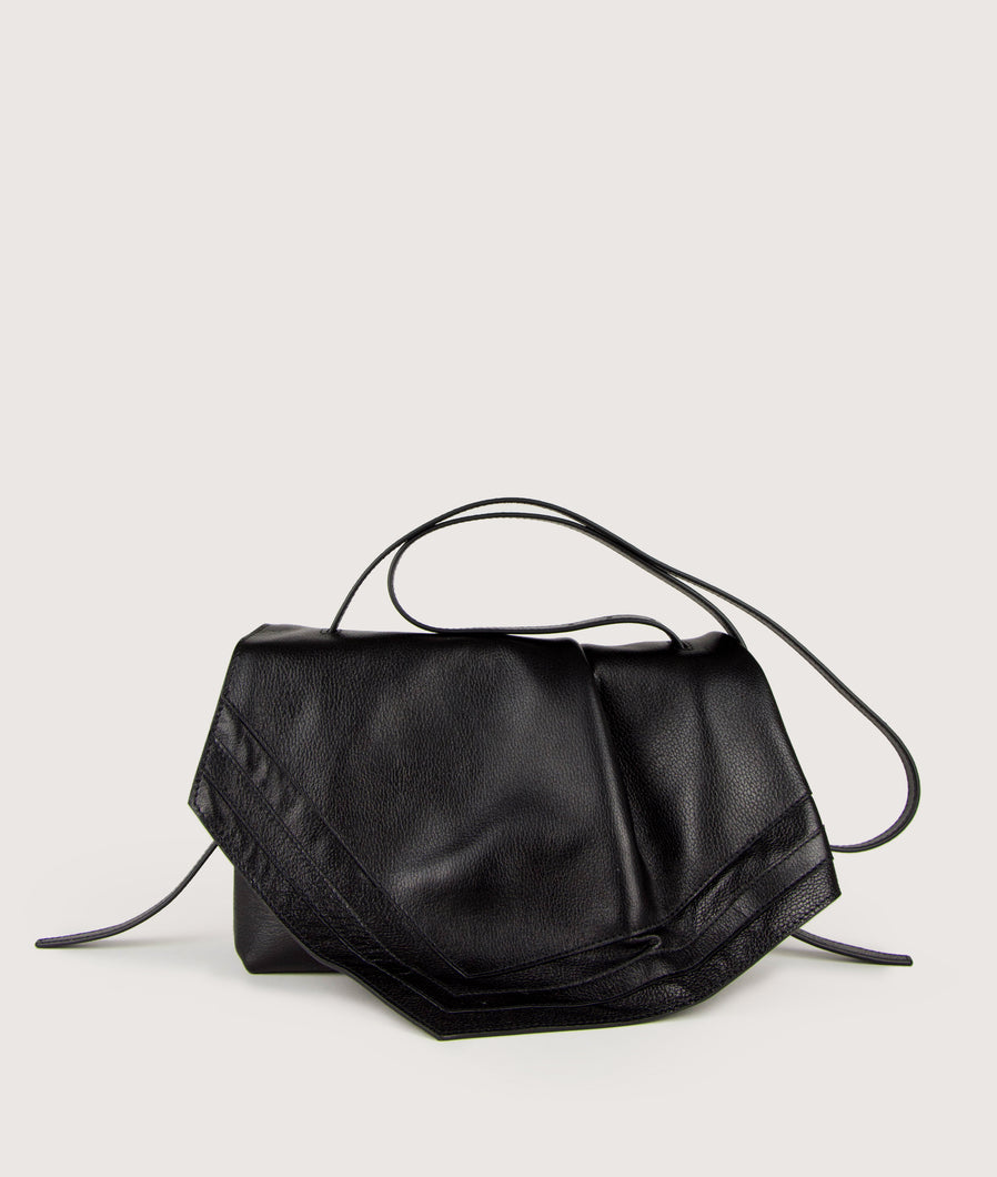 Scarf crossbody M black