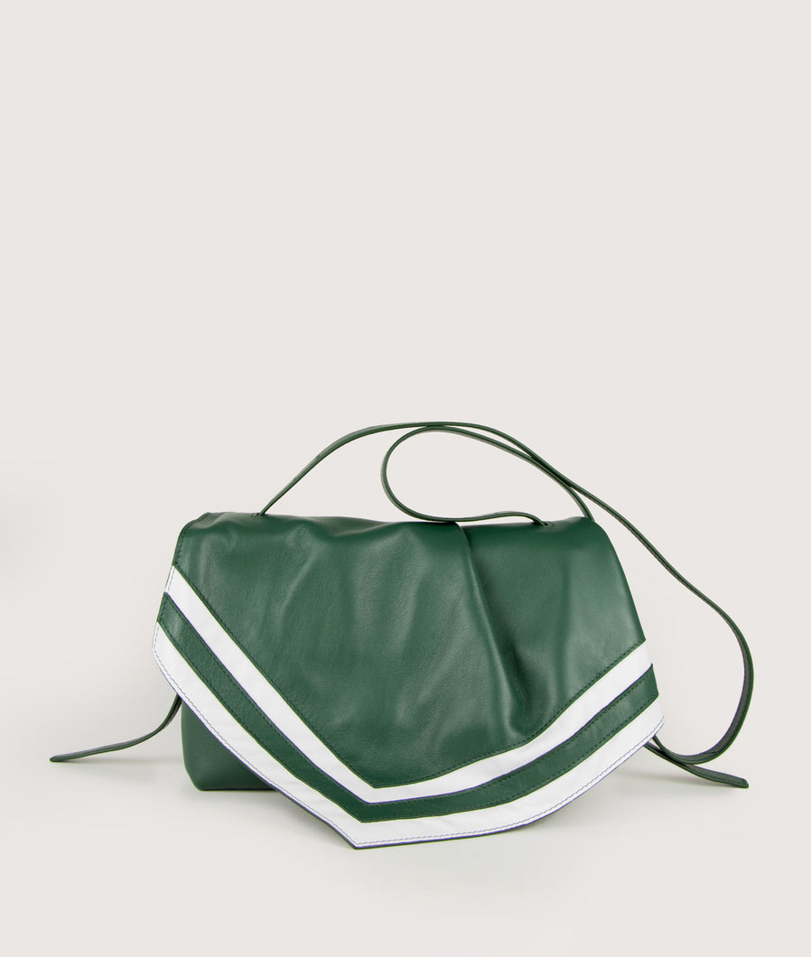 Scarf crossbody M green-white
