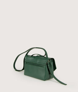 Scarf crossbody S green-white