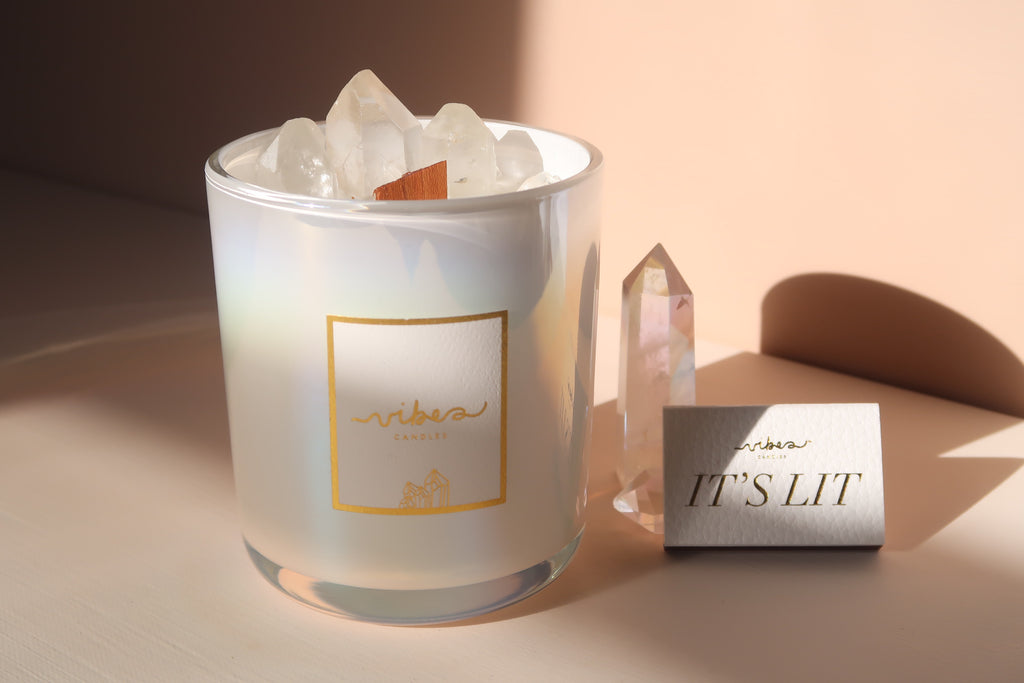Aura Crystal Candle - Clear Quartz