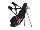 TITLEIST PLAYERS 4 STANDBAG BLACK/ RED