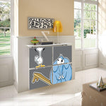 Children's Radiator Cabinet Cover CARTOON Duck & Elly Bench Friends Kids Bedroom Nursery Playroom-Radiator Covers > Floating Radiator box & Shelf > Children Design Heater Cabinets > Radiator Casing for Kids Safety > Nursery Radiator Casing > Playroom Radiator> Made toMeasure > Custom Designs Cover-RadiatorCoversShop.com