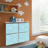 Children Floating Radiator Cabinet Cover PASTEL Aqua Stars design for Kids Bedroom Nursery Playroom-Radiator Covers > Floating Radiator box & Shelf > Children Design Heater Cabinets > Radiator Casing for Kids Safety > Nursery Radiator Casing > Playroom Radiator> Made toMeasure > Custom Designs Cover-RadiatorCoversShop.com