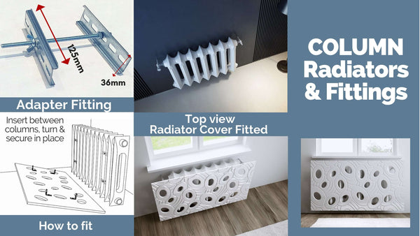 Alternative Radiator Cover Fittings Column RollRound Top Radiator Bathroom Towel Rail & others-Radiator Covers > Modern Radiator Covers > Designer Radiator Cover > Floating Radiator Covers Fixings > Removable Covers Accessories-RadiatorCoversShop.com
