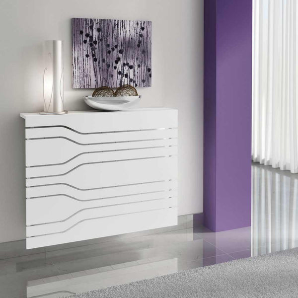 Modern Floating White Radiator Heater Cover MINIMAL STRIPE design with Integrate shelf Ref RCMN252-Radiator Covers > Floting Radiator Cabinets > Shelf Radiator Cover > Modern Radiator Covers > Designer Radiator Covers > Custom Made Heater Cover > Wall Mounted Cover > Made toMeasure Radiator Cover-RadiatorCoversShop.com
