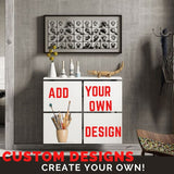 ADD ON Custom Printing Personalisation your photo on MINIMAL SQUARES LINES & TABLE Radiator Heater Cabinet-Radiator Covers > Floting Radiator Cabinets > Shelf Radiator Cover > Modern Radiator Covers > Designer Radiator Covers > Custom Made Heater Cover > Wall Mounted Cover > Made toMeasure > Custom Designs-RadiatorCoversShop.com