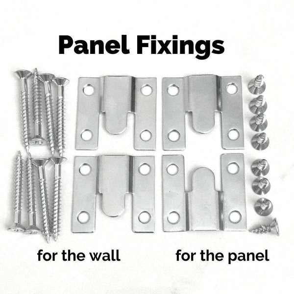 Concealed Wall Mount Fixing Brackets for Flash hanging of Headboards Decorative Wall Panels, set of 2-Radiator Covers > Modern Radiator Covers > Designer Radiator Cover > Custom Made Radiator Covers > Heater Grill Covers > Removable Covers > Made to Measure Radiator Cover > Floating Radiator Covers-RadiatorCoversShop.com