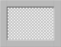White Framed Clip on Radiator Heater Covers with Classic GEM decorative grille screening panel motif-Radiator Covers > Panel Radiator Covers > Classic Radiator Covers > Designer Radiator Cover > Custom Made Radiator Covers > Heater Grill Covers > Clip on Panel Covers > Made to Measure Radiator Cover-RadiatorCoversShop.com