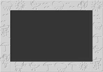 Kids Magnetic Blackboard chalkboard with CLOUDS frame design for Children's Bedroom Playroom-Chalkboards > Blackboards > Home Notice Board > Children Play Boards-RadiatorCoversShop.com
