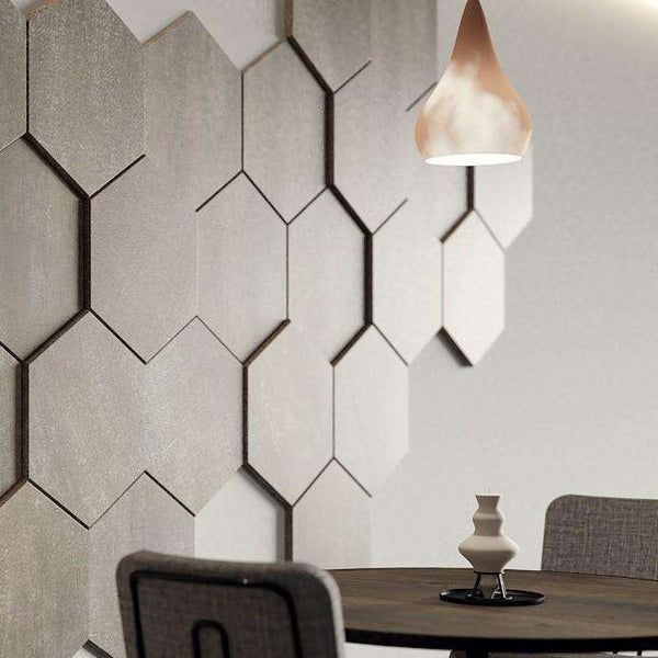Decorative HEXAGONAL wall panels with varied thickness for textured 3D surface design, pack of 3-Wall Panelling > Decorative Wall Panels > Textured Wall Panels > 3D Wall Panels > Feature Wall Covering-RadiatorCoversShop.com