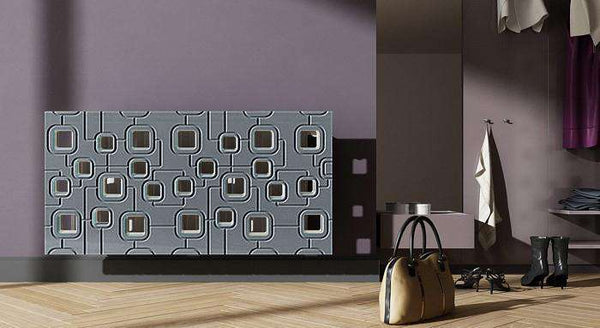 Bespoke Radiator Heater Cover with geometric SATURN Design SATIN MATT Finish-Radiator Covers > Panel Radiator Covers > Modern Radiator Covers > Designer Radiator Cover > Custom Made Radiator Covers > Heater Grill Covers > Clip on Panel Covers > Made to Measure Radiator Cover-RadiatorCoversShop.com