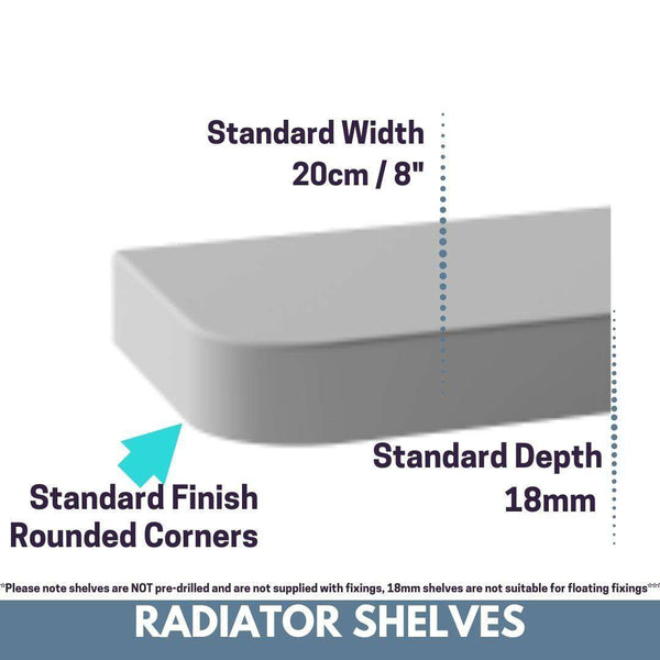 SALE Made to Measure Radiator Top Shelf windowsill White 18 or 28mm Floating Shelves-Radiator Shelf > Shelves above Radiator > Radiator Heater Shelves > Custom Made Radiator Shelves > Made to Measure Windowsills > Bespoke Shelf Window Sills > Matching Shelves above Radiator Covers-RadiatorCoversShop.com