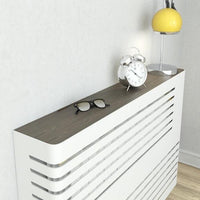 Modern Floating Radiator Heater Cover NORDIC CORNER LINE Metal Cabinet design flush top Ref RCNR231-Radiator Covers > Floting Radiator Cabinets > Drawer Radiator Cover > Modern Radiator Covers > Designer Radiator Covers > Custom Made Heater Cover > Wall Mounted Covers > Made toMeasure Radiator Cover-RadiatorCoversShop.com
