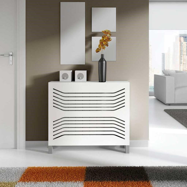 Modern Floating Radiator Heater Cover GEOMETRIC CURVE LINE Cabinet Box Design with Shelf Ref RCGE248-Radiator Covers > Floting Radiator Cabinets > Shelf Radiator Cover > Modern Radiator Covers > Designer Radiator Covers > Custom Made Heater Cover > Wall Mounted Cover > Made toMeasure Radiator Cover-RadiatorCoversShop.com