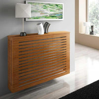 Modern Floating Radiator Heater Cover GEOMETRIC LINE Cabinet Box Design with Top Shelf Ref RCGE242-Radiator Covers > Floting Radiator Cabinets > Shelf Radiator Cover > Modern Radiator Covers > Designer Radiator Covers > Custom Made Heater Cover > Wall Mounted Cover > Made toMeasure Radiator Cover-RadiatorCoversShop.com