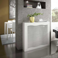Modern Floating Radiator Heater Cover GEOMETRIC WAVE Cabinet Box Design with Top Shelf Ref RCGE247-Radiator Covers > Floting Radiator Cabinets > Shelf Radiator Cover > Modern Radiator Covers > Designer Radiator Covers > Custom Made Heater Cover > Wall Mounted Cover > Made toMeasure Radiator Cover-RadiatorCoversShop.com