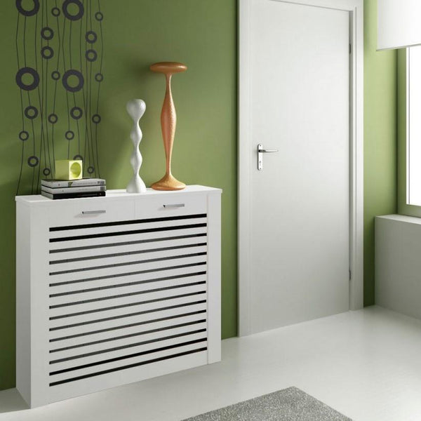 Floor Standing Modern Radiator Heater Cabinet CLASSIC LINES Cover Design with Top Drawer Ref RCCL201-Radiator Cabinets > Heater Boxes > Radiator Enclosure > Radiator Casing > Radiator Enclosure > Custom Made Radiator Cabinets > Radiator Screens > Radiator Topper > Radiator Cabinet with drawer-RadiatorCoversShop.com