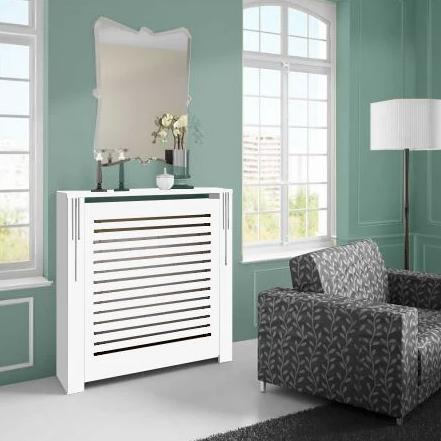Floor Standing Modern White Radiator Heater Cabinet CLASSIC LINES Cover Box Design Ref RCCL202-Radiator Cabinets > Heater Boxes > Radiator Enclosure > Radiator Casing > Radiator Enclosure > Custom Made Radiator Cabinets > Radiator Screens > Radiator Topper > Radiator Cabinet traditional style-RadiatorCoversShop.com