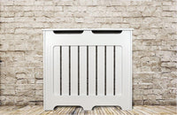 Elegant White Removable Radiator Heater Covers with Classic HORIZONTAL SLATS decorative grille screening panel-Radiator Covers > Classic Radiator Covers > Designer Radiator Cover > Custom Made Radiator Covers > Heater Grill Covers > Removable Covers > Made to Measure Radiator Cover > Floating Radiator Covers-RadiatorCoversShop.com