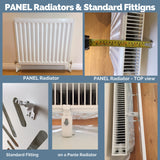 Elegant White Radiator Heater Covers with Classic CUBE decorative grille screening panel design-Radiator Covers > Panel Radiator Covers > Classic Radiator Covers > Designer Radiator Cover > Custom Made Radiator Covers > Heater Grill Covers > Clip on Panel Covers > Made to Measure Radiator Cover-RadiatorCoversShop.com