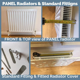 Bespoke Radiator Heater Cover geometric SATURN Design WHITE available in lengths from 70cm to 180cm-Radiator Covers > Panel Radiator Covers > Modern Radiator Covers > Designer Radiator Cover > Custom Made Radiator Covers > Heater Grill Covers > Clip on Panel Covers > Made to Measure Radiator Cover-RadiatorCoversShop.com