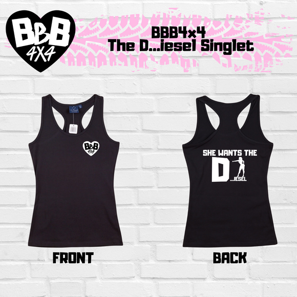 BBB4x4 Fkn Send It Singlet | Female | Green | Pre-Order