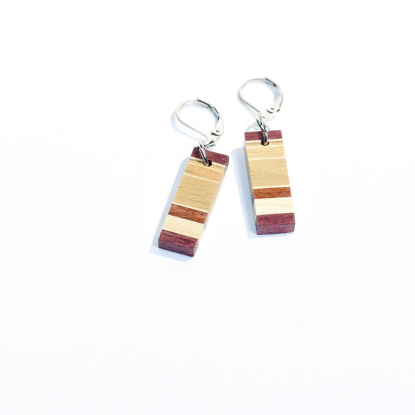 earrings women in wood hande made Canada