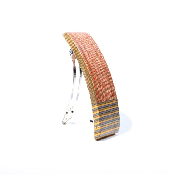 Barrette en Spectraply rouge et orange - #Isabelle_Ferland_bijoux#