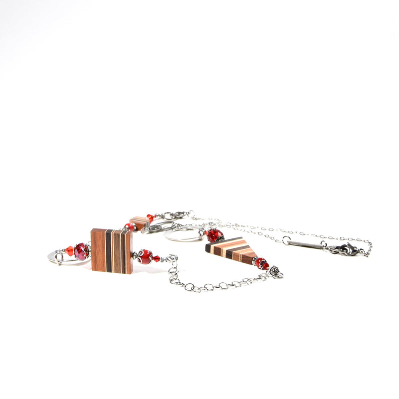 COLLIER rouge Modifiable- isabelle ferland bijoux en bois