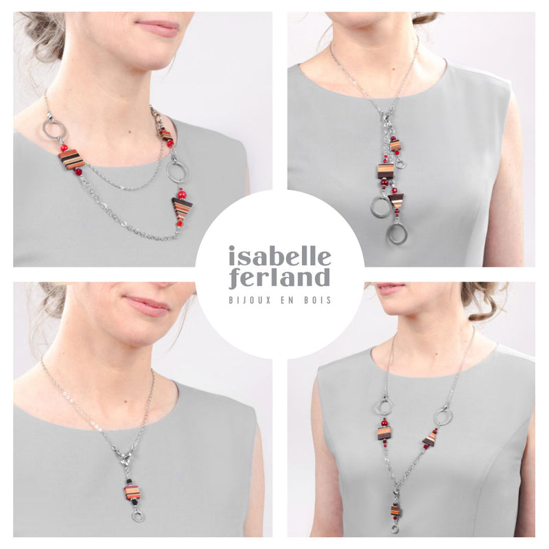 Collier en bois modifiable fait main par isabelle ferland