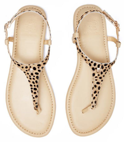 Leopard Print Pony Hair Interchangeable Sandal Straps