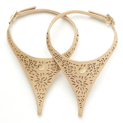 Tan Leather Laser Cut Straps