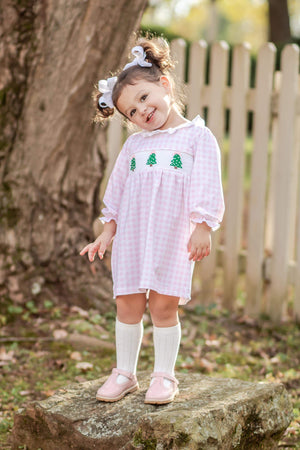 Oh Christmas Tree Smocked Knit Dress
