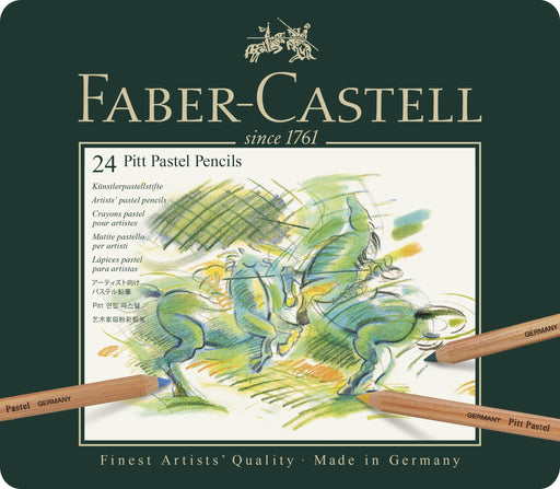 Color Pencil Pitt Pastel Tin of 24 - Blesket Canada