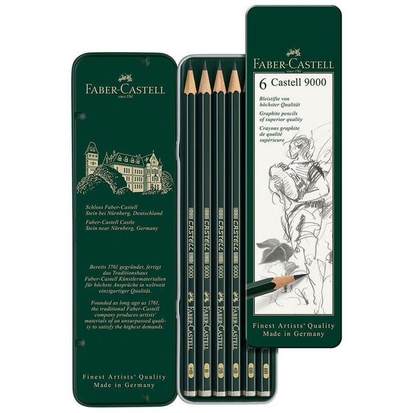 Faber-Castell -  9000 tin of 6 - Blesket Canada