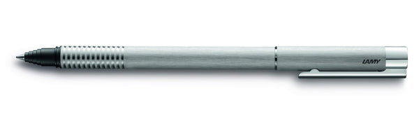 Logo Brushed Steel Rollerball Pen - Blesket Canada