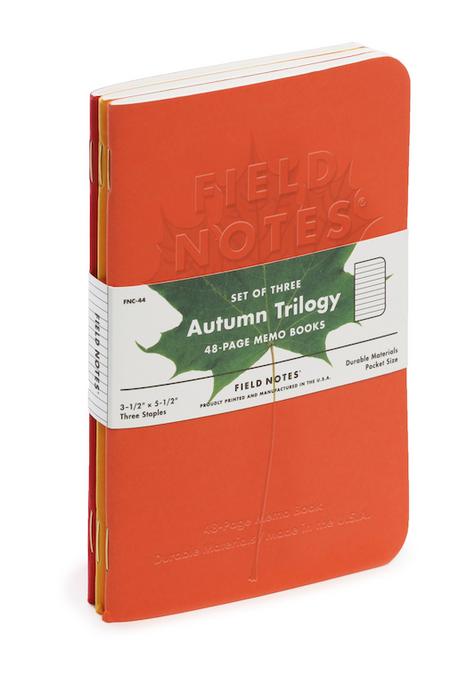 Autumn Trilogy Memo Book - set of 3 - Blesket Canada