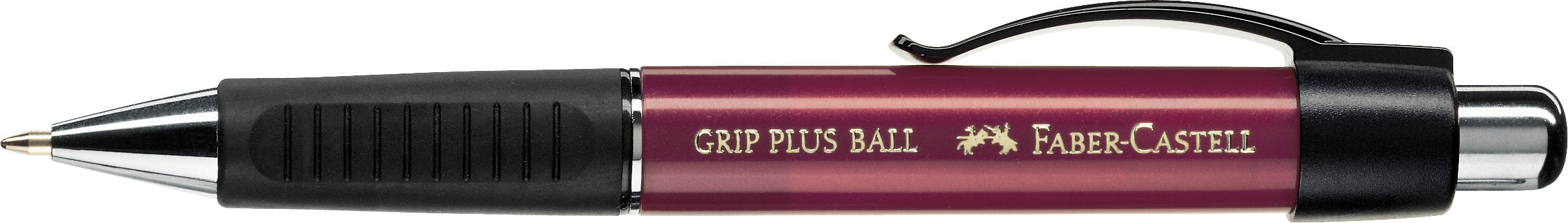 Faber-castell Grip Plus Ballpoint Pen metallic red