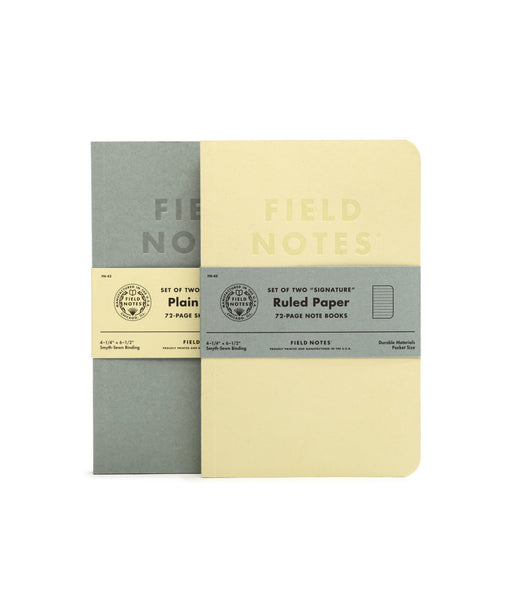 Field Notes 2-Pack Plain or Ruled Signature - Blesket Canada